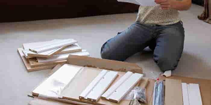 Muebles de cartón reciclado