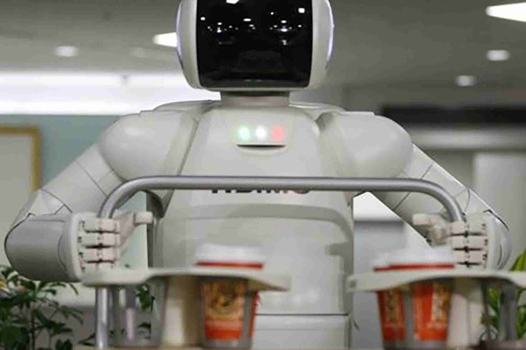 Restaurante futurista robótico