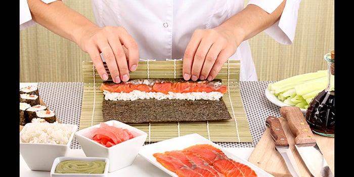 Taller para preparar sushi