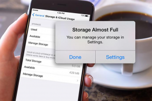 Iphone storage full