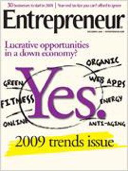 Entrepreneur Magazine - December 2008