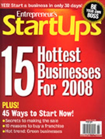 Entrepreneur Startups Magazine - March 2008