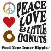 Peace, Love & Little Donuts Logo