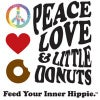 Peace, Love and Little Donuts Logo