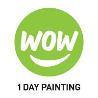 Wow 1 Day Painting Logo