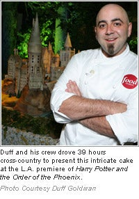 Duff with Harry Potter cake
