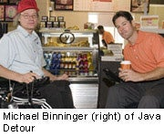 Michael Benninger (right) of Java Detour