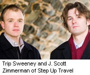 Trip Sweeney and J. Scott Zimmerman of Step Up Travel