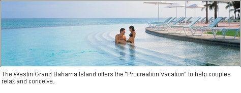 The Westin Grand Bahama Island offers the 'Procreation Vacation'