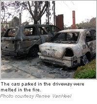 Renee VanHeel's burned cars