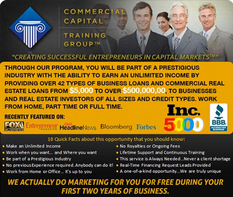 Commercial Capital Training Group - Creating Successful Entrepreneurs in Capital Markets