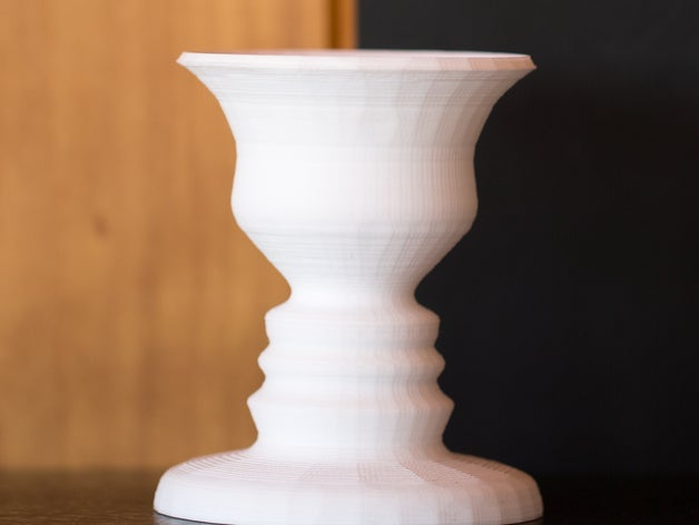 3D Printed Vase with face