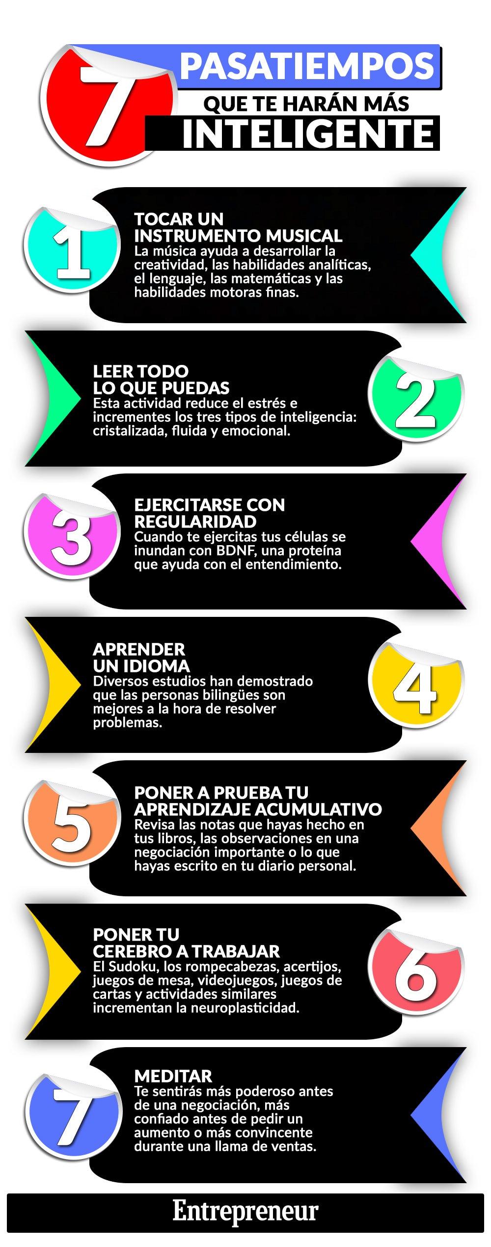 Infografía: 7 pasatiempos que te harán más inteligente