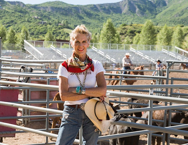During the summer, Thurman goes to the Snowmass Rodeo in Aspen to sell her wares.