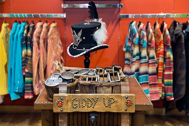 A sample of Thurman's quirky take on Western style offered at Cry Baby Ranch.