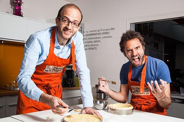 Michel and Augustin make strawberry shortcake