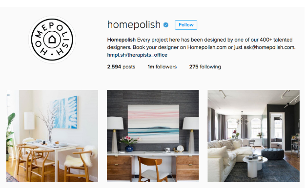 Homepolish instagram profile