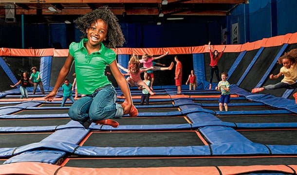 Low-gravity area: Sky Zone Trampoline Park.