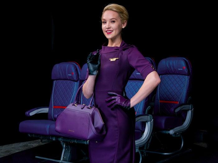 delta flight attendants uniform