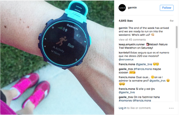 Garmin Forerunner Instagram Post