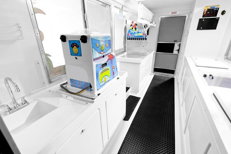 interior of Kona Ice truck
