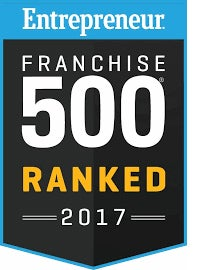 Ranked in the top 500 franchises by Entrepreneur Magazine