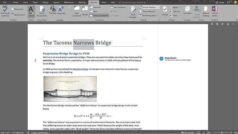 Microsoft Adds Read Aloud Feature to Word