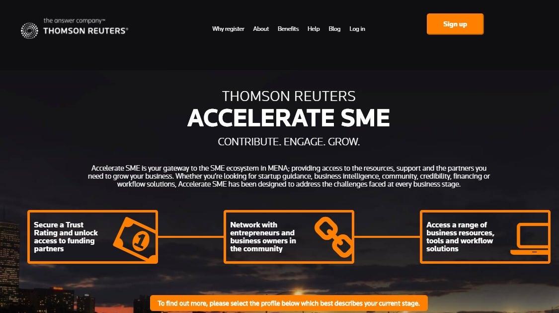 The Thomson Reuters Accelerate SME Platform Has Resources