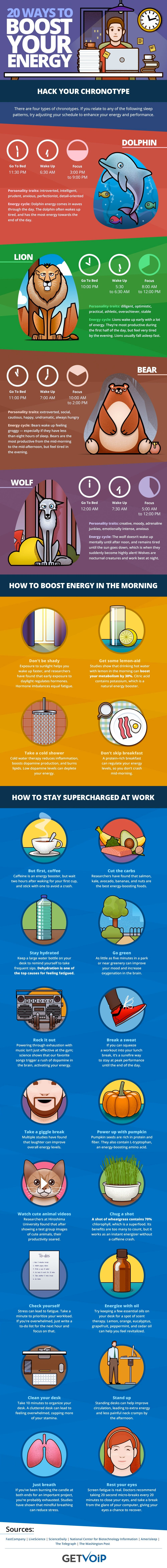 20 Ways to Boost Your Energy at Work (Infographic)