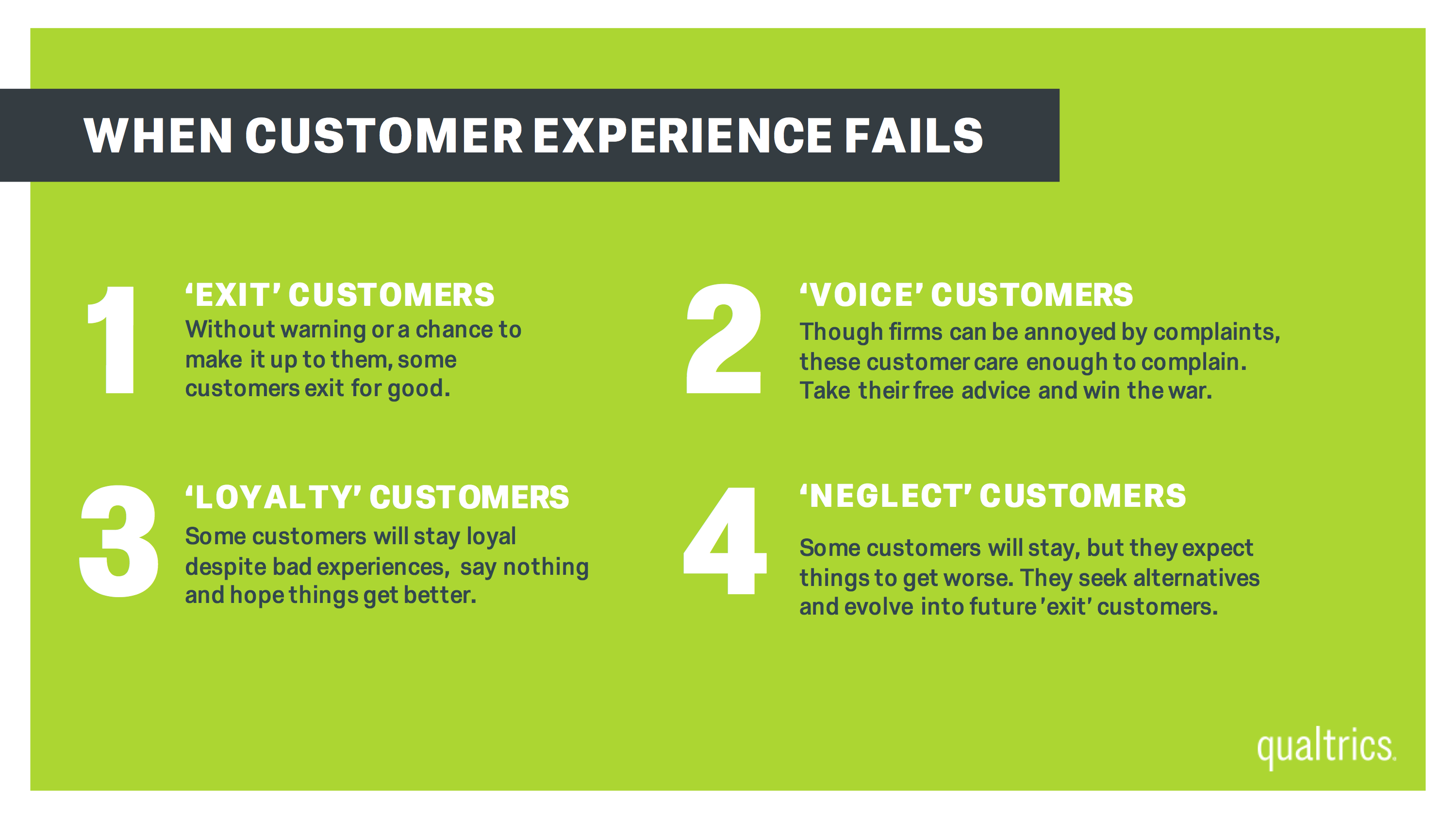 Why Customers Flee