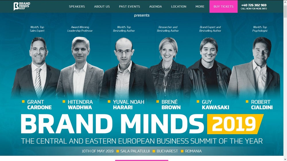 Brandminds business conference Romania