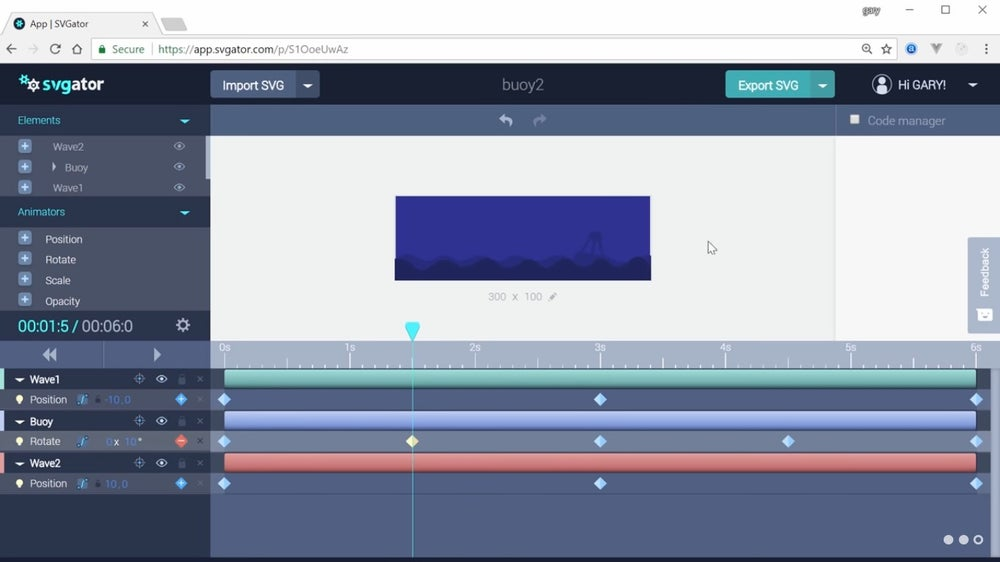 SVGator animation
