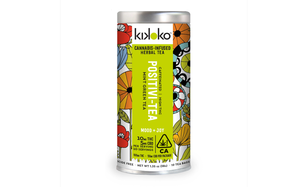 Positivi-Tea from Kikoko is a green tea infused with THC and CBD. (Image Credit: Kikoko)