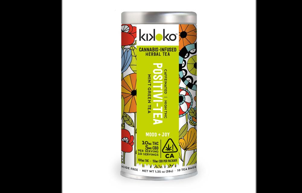Positivi-Tea from Kikoko is a green tea infused with THC and CBD. (Image Credit: Kikoko)