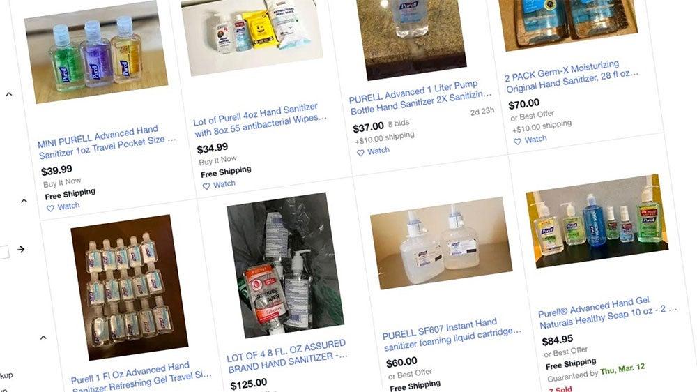 Ebay Bans Sales Of Face Masks Hand Sanitizer To Stop Coronavirus Price Gouging