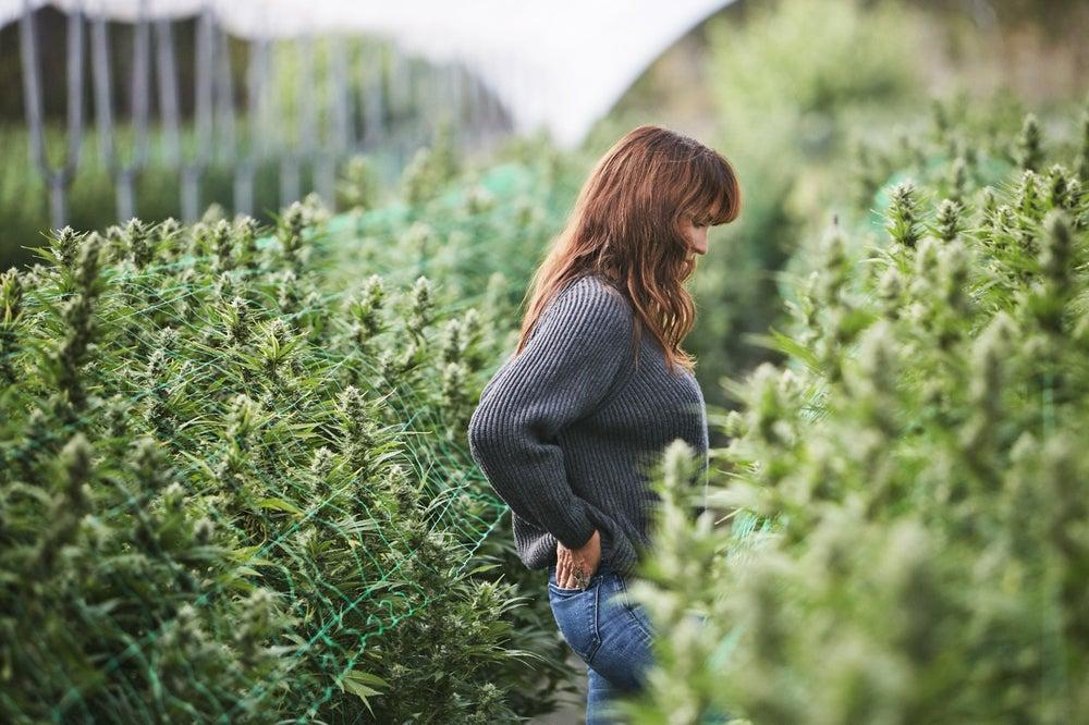 Sara Rotman on her farm in Santa Barbara, California.