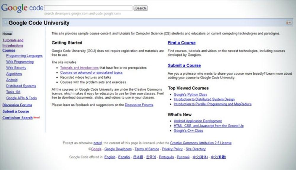 Google Code University