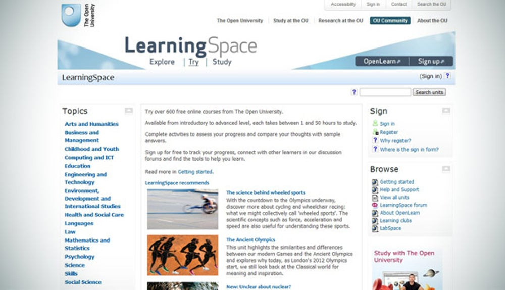 The Open University's Learning Space