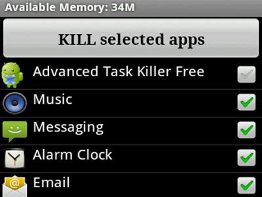There's no Advanced Task Killer on iPhone.