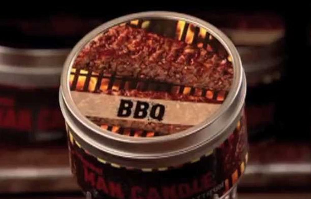 It comes in scents like pot roast, draft beer, and BBQ.