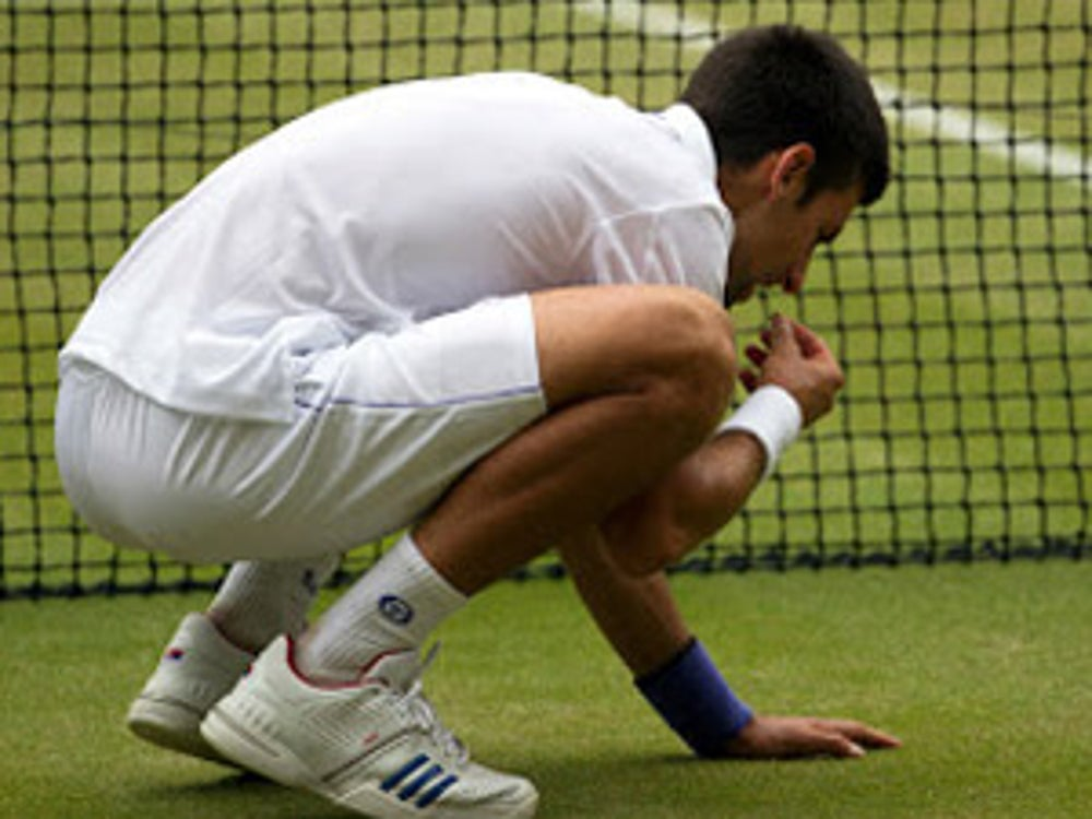 Tennis star Novak Djokovic follows a unique gluten-free diet and has eaten grass after winning.