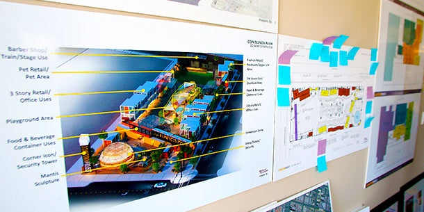 Downtown Project's Wall of Plans