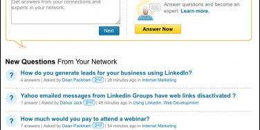 You don't participate in group discussions on LinkedIn or, if you do, you're spamming them