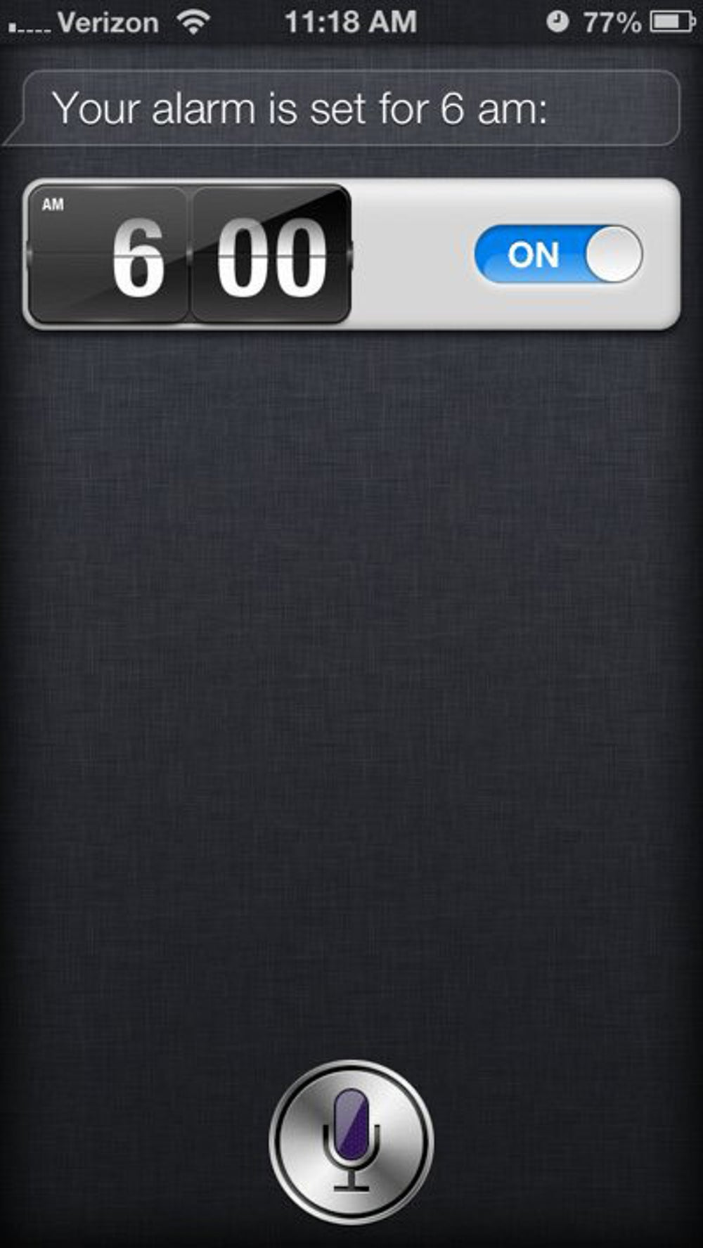 Use Siri to set alarms.