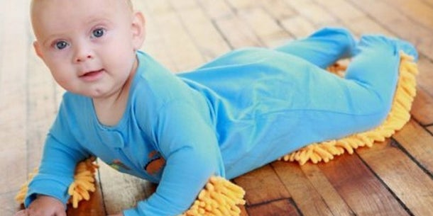 Let's be honest, there aren't many things more adorable than watching a curious baby explore a room on all fours. The Baby Mop makes crawling more comfortable for a child while simultaneously cleaning the floor.