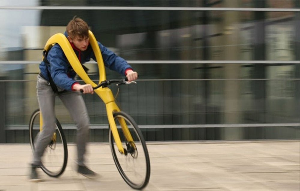 The FLIZ takes the bicycle and strips out all of the useful parts. What you get is a sling that lets you glide around town with marginally less effort than walking.