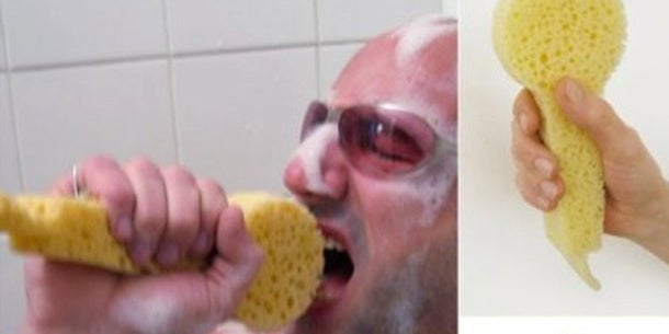 Yes, people love singing in the shower. They also tend to mime singing into a mic with their sponge. But does using a sponge that looks like a mic actually enhance the experience?