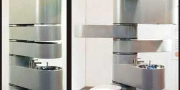 The Vertebrae lets you combine every aspect of your bathroom into a single unit -- toilet and all.