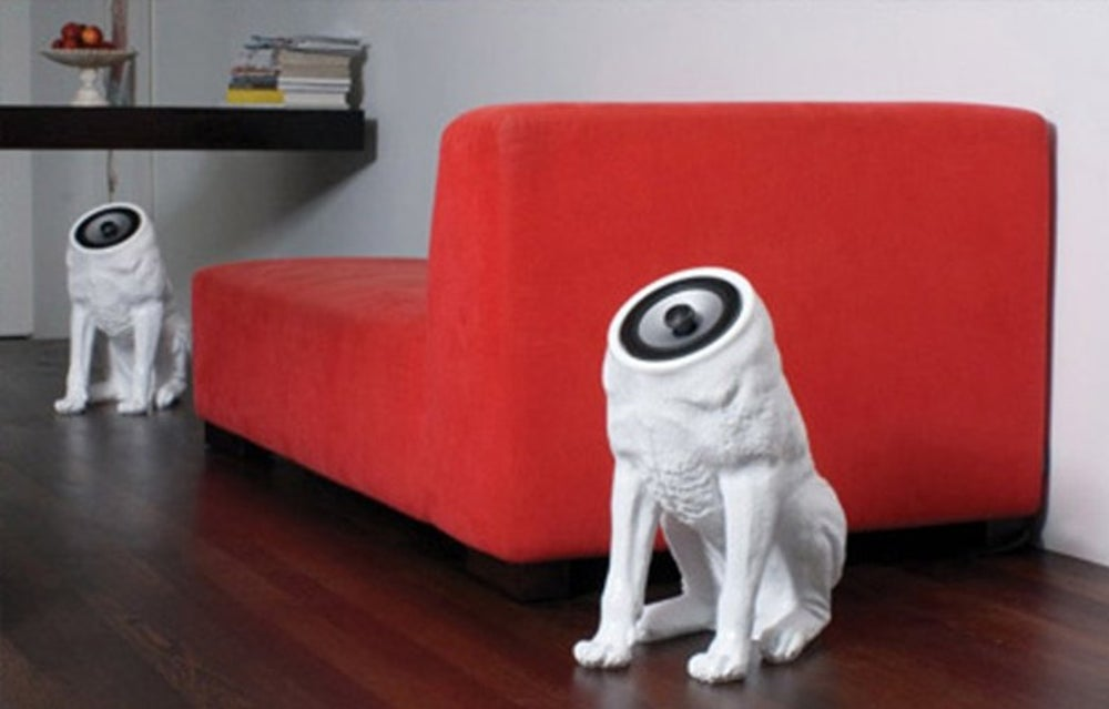 The Woofer Speaker System lets you make a statement with your sound setup for a whopping $1,449; we only wish we knew what that statement was.