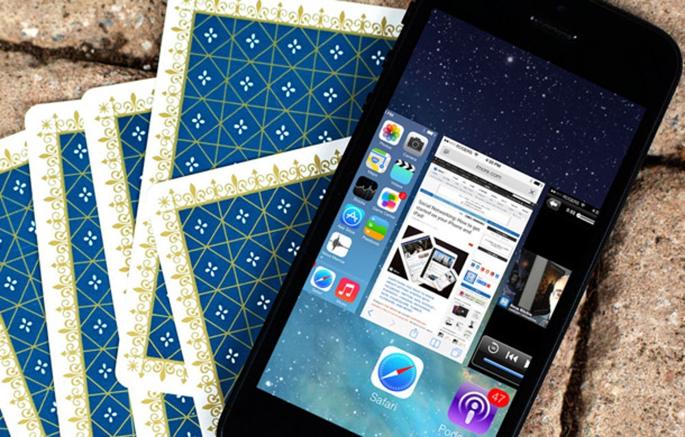 True or False: On an iPhone, double-tap the home button, close apps to increase battery life